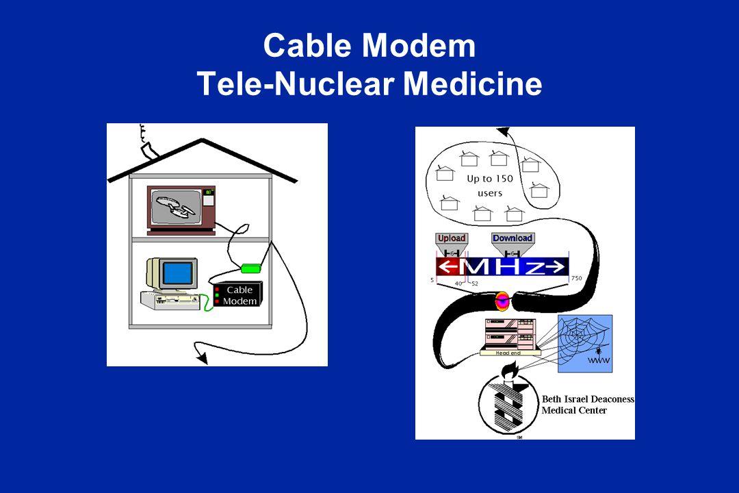 Cable Modem Tele-Nuclear Medicine