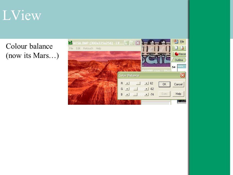 LView Colour balance (now its Mars…)