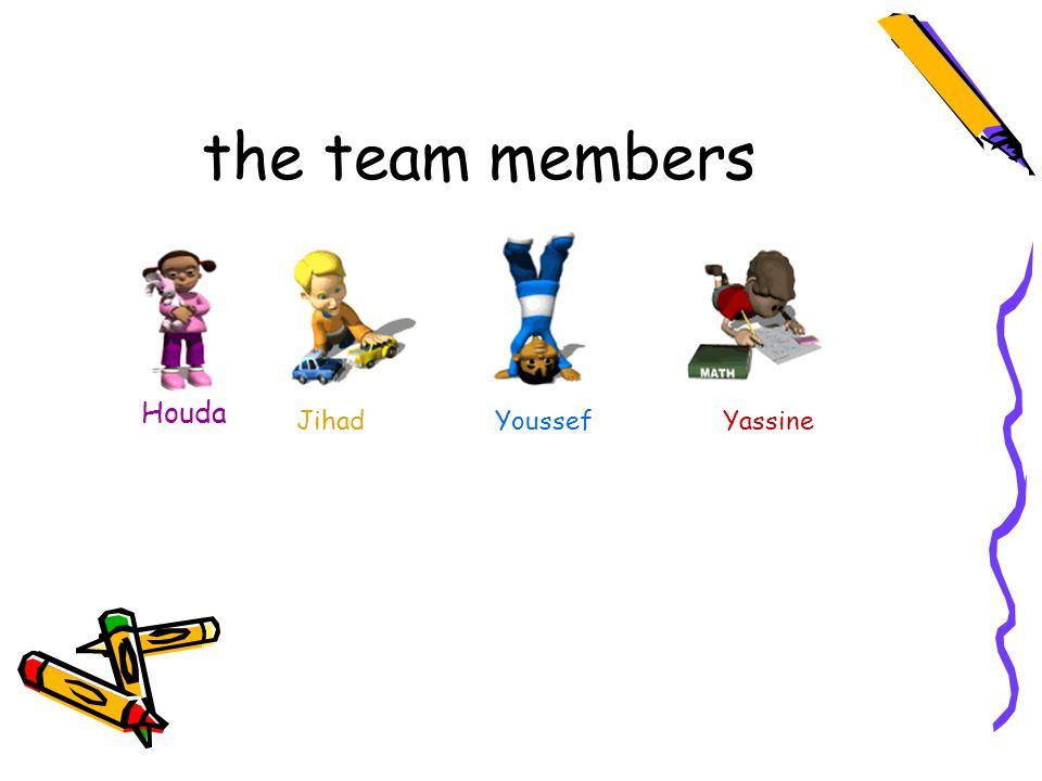 the team members Houda Jihad YoussefYassine