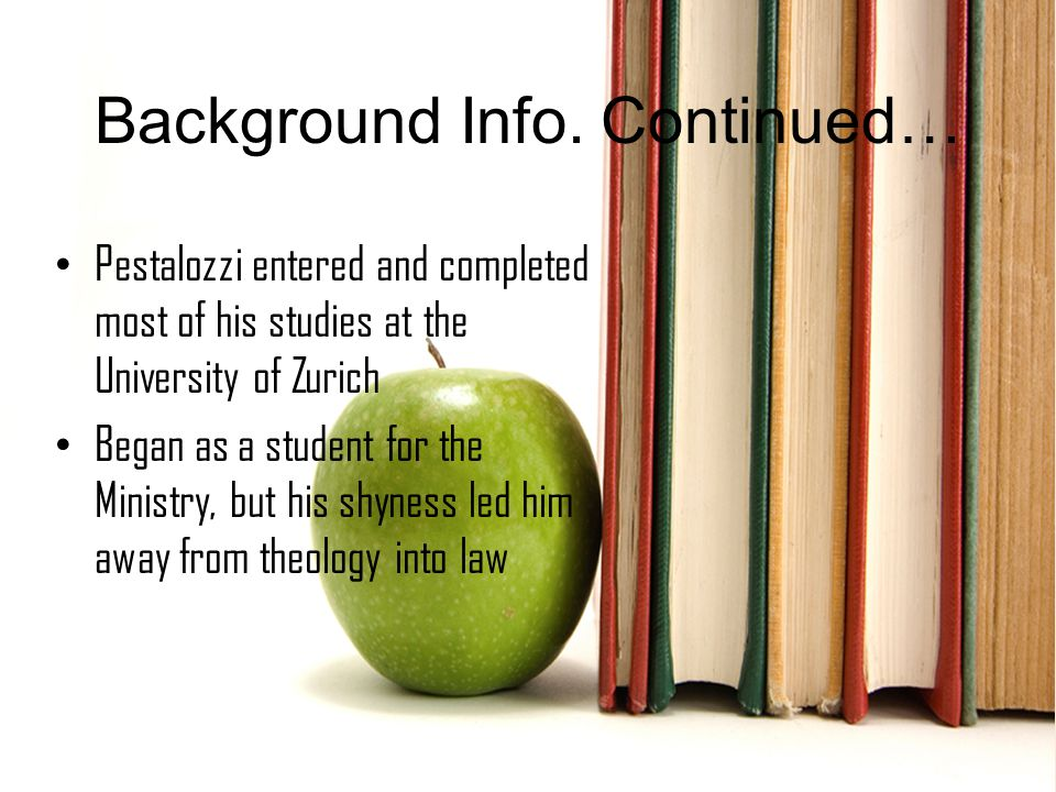 Background Info.