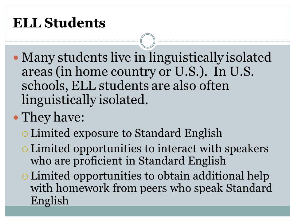 Progress Monitor Student's Language Acquisition Student's English language development should be monitored.