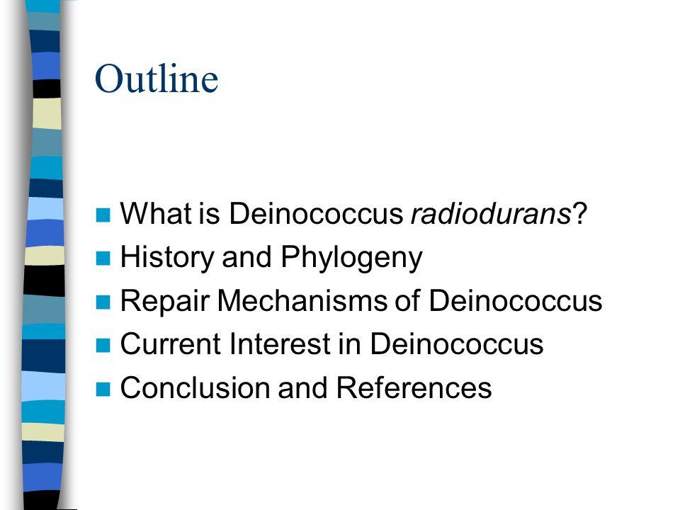 Conan the Bacterium Radiation Resistance and Deinococcus radiodurans Jacqueline Parker