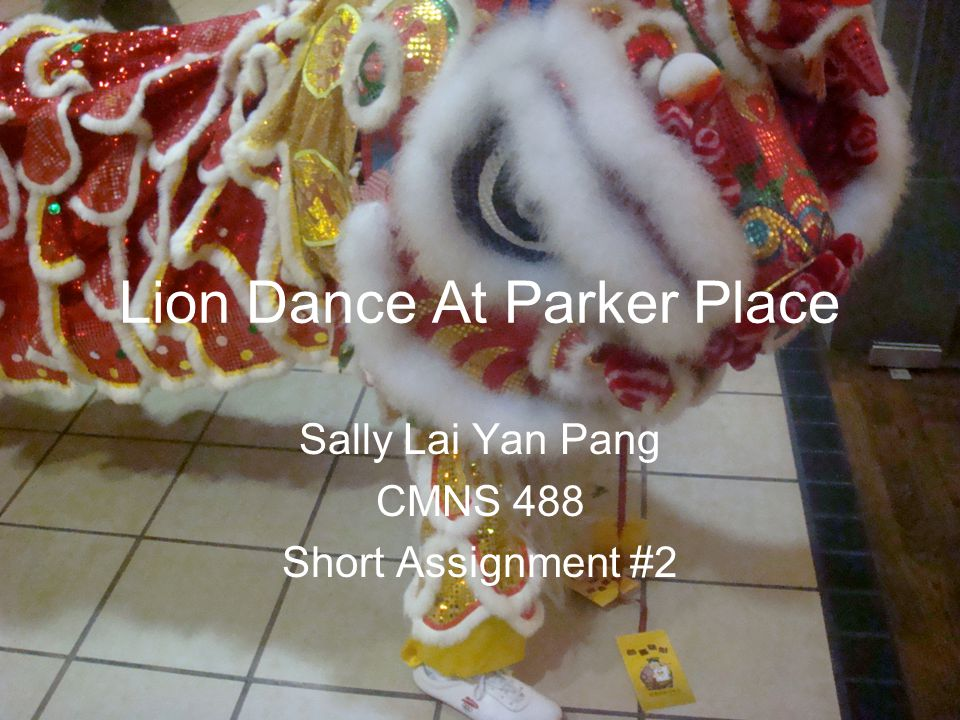 Lion Dance At Parker Place Sally Lai Yan Pang CMNS 488 Short Assignment #2