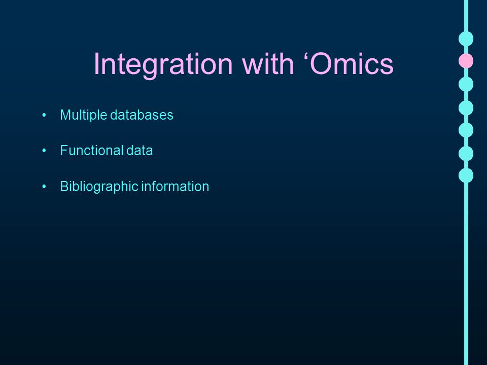 Integration with 'Omics Multiple databases Functional data Bibliographic information