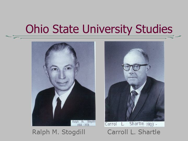 Ohio State University Studies Ralph M. StogdillCarroll L. Shartle