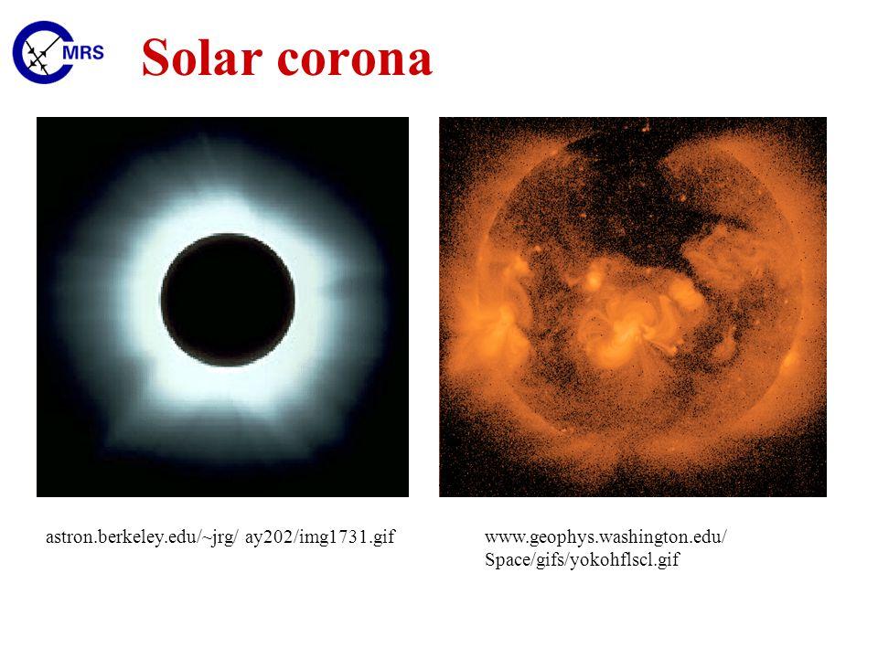 Solar corona astron.berkeley.edu/~jrg/ ay202/img1731.gifwww.geophys.washington.edu/ Space/gifs/yokohflscl.gif