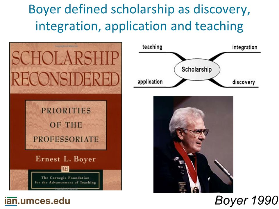 Boyer definition of integration Boyer 1990