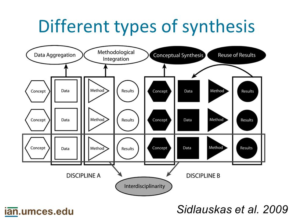 Different types of synthesis Sidlauskas et al. 2009