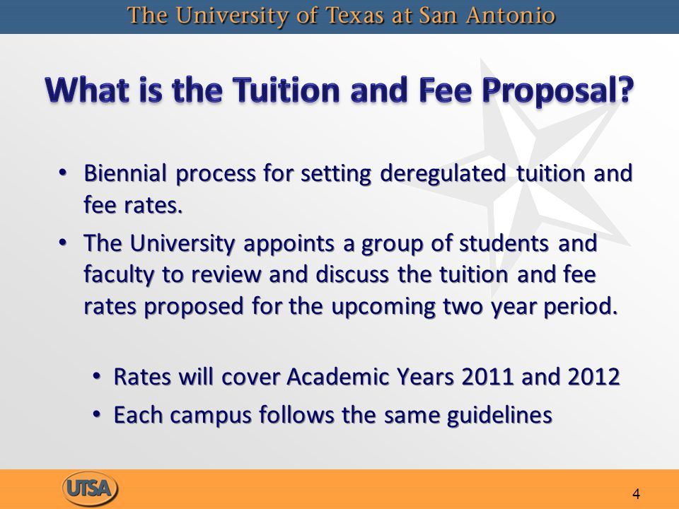 4 Biennial process for setting deregulated tuition and fee rates.
