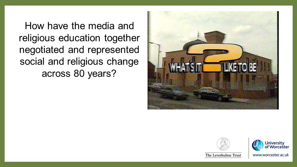 How have the media and religious education together negotiated and represented social and religious change across 80 years?