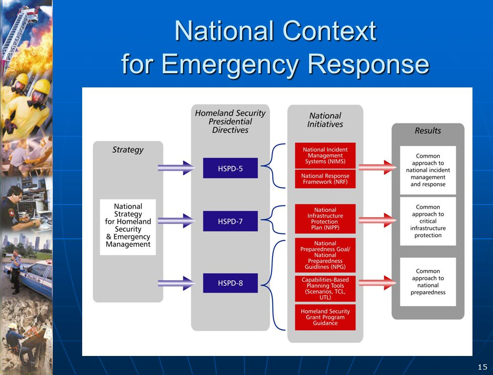 15 National Context for Emergency Response