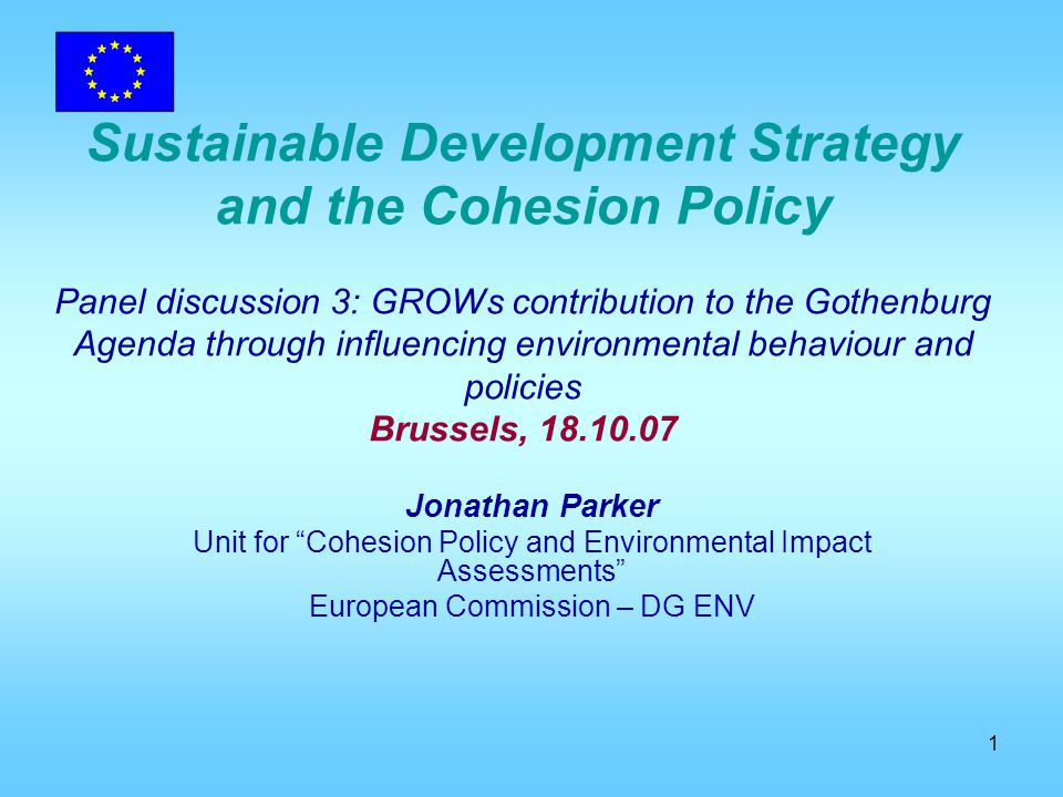 2 New context Sustainable Development Strategy (SDS) and Lisbon