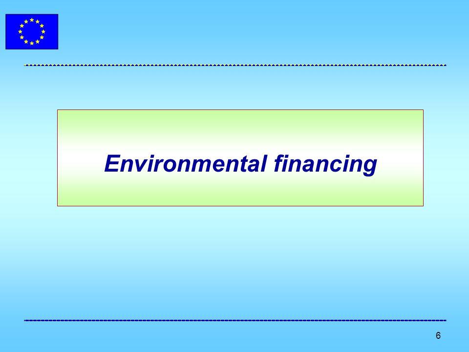 6 Environmental financing