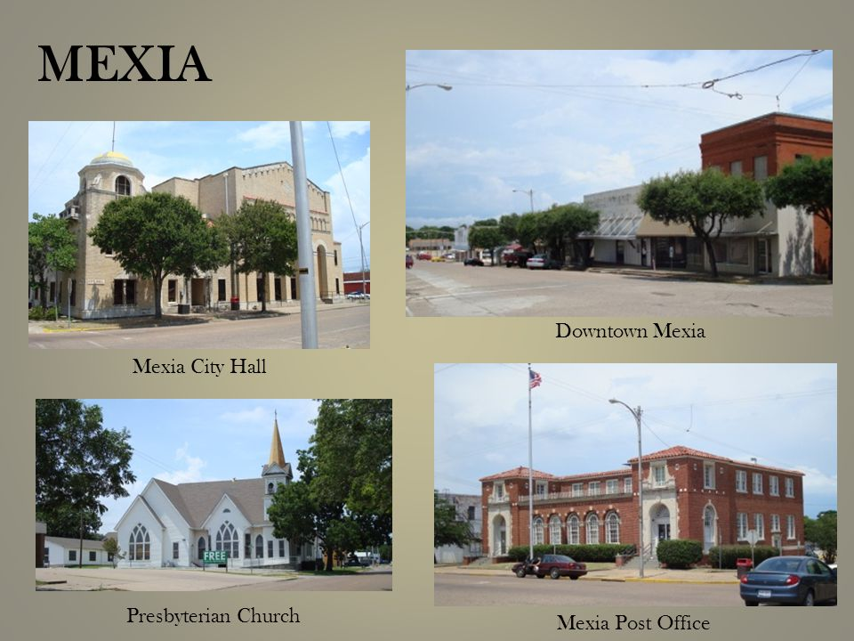 MEXIA Presbyterian Church Mexia City Hall Mexia Post Office Downtown Mexia