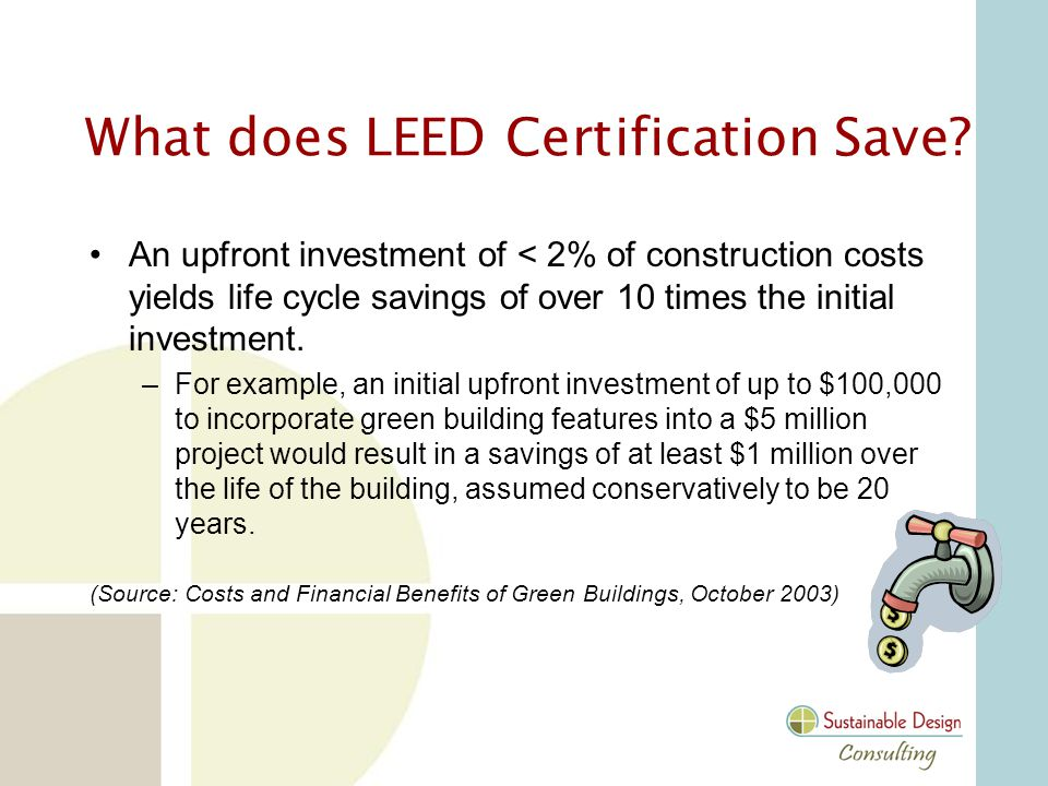 What does LEED Certification Save.