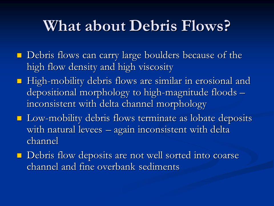 What about Debris Flows.