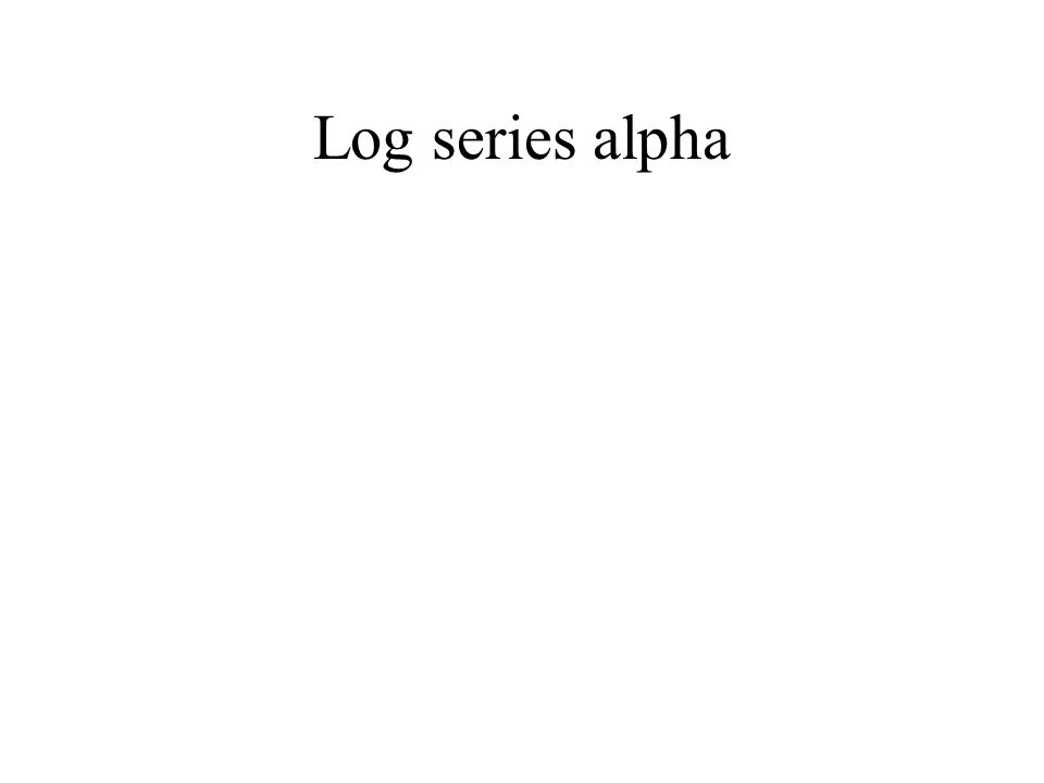 Log series alpha