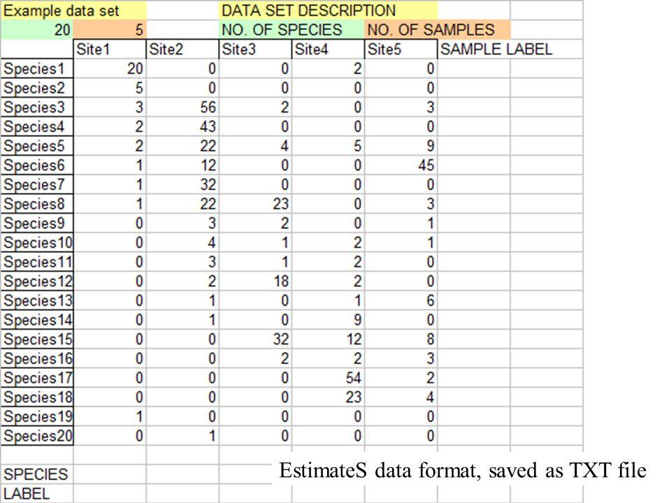 EstimateS data format, saved as TXT file