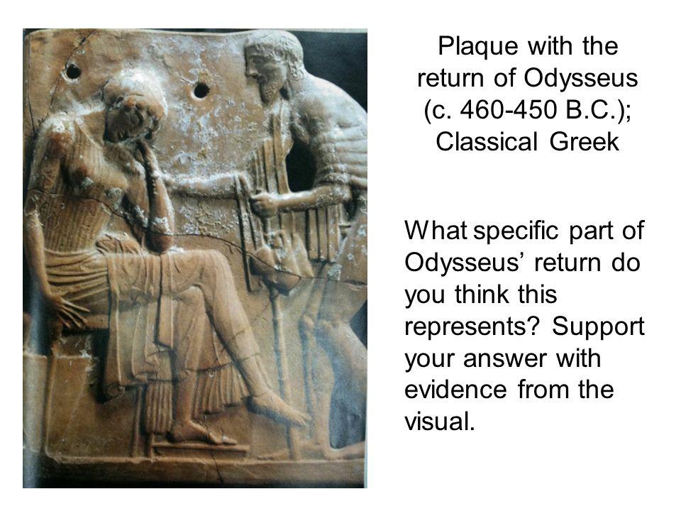 Plaque with the return of Odysseus (c.