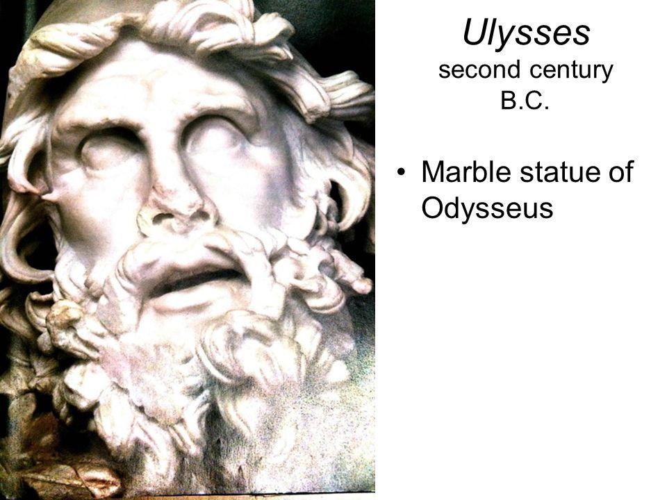 Ulysses second century B.C. Marble statue of Odysseus