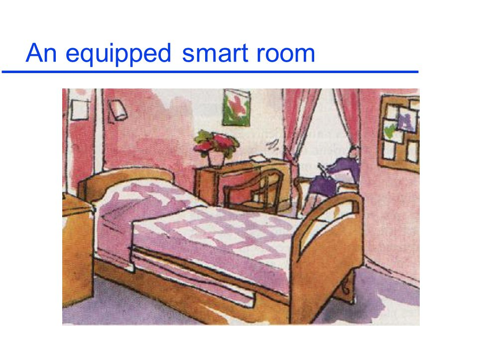 An equipped smart room