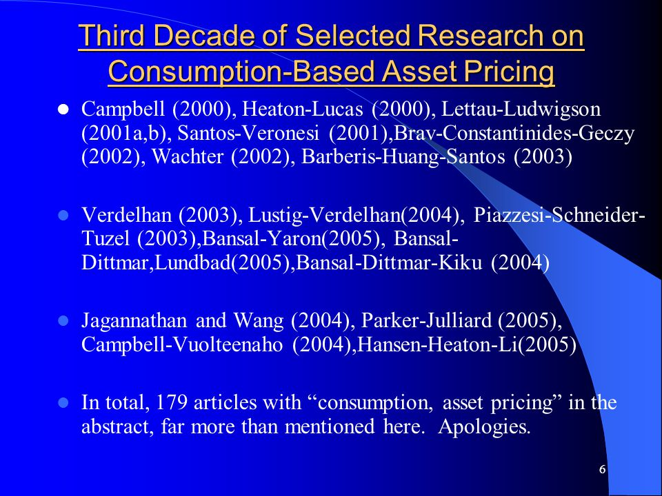 47 Consumption Growth Predicted by Stock Returns Quarterly Data, 1949 – 2003 Dependent VariableSlope Coefficients Adj.