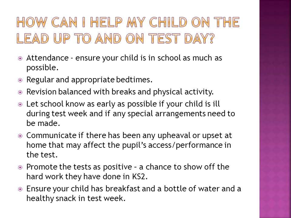  Attendance - ensure your child is in school as much as possible.