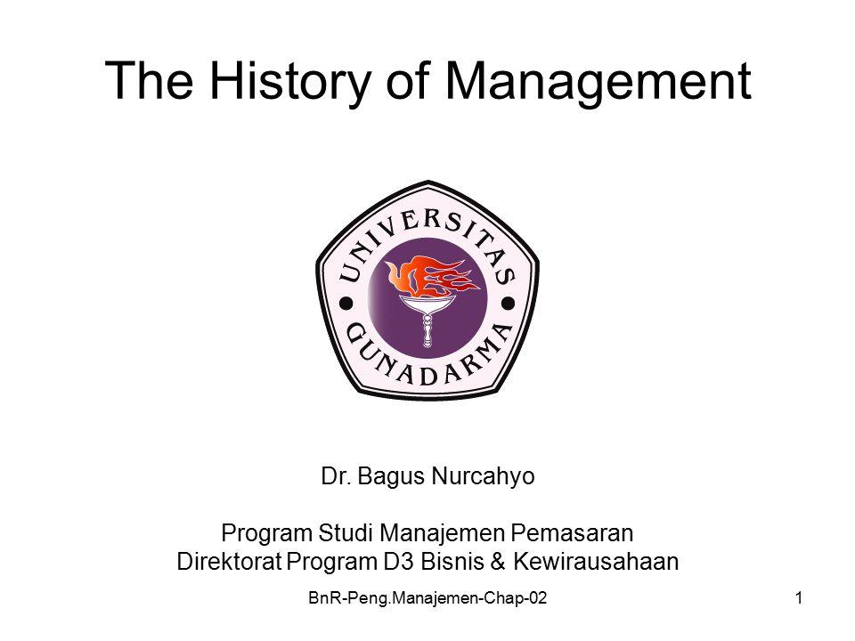 BnR-Peng.Manajemen-Chap-021 The History of Management Dr.