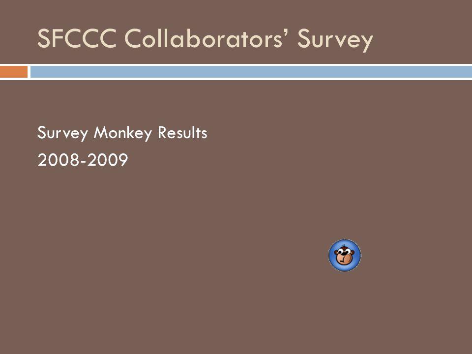 SFCCC Collaborators' Survey Survey Monkey Results 2008-2009