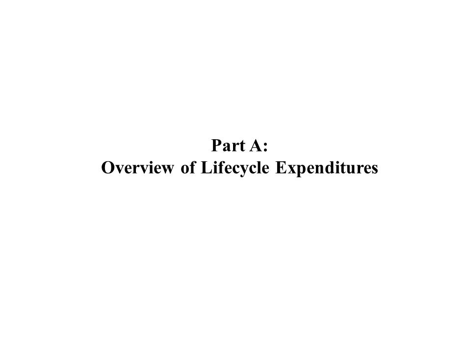 Why Do We Care About Lifecycle Expenditure.Why is it important.