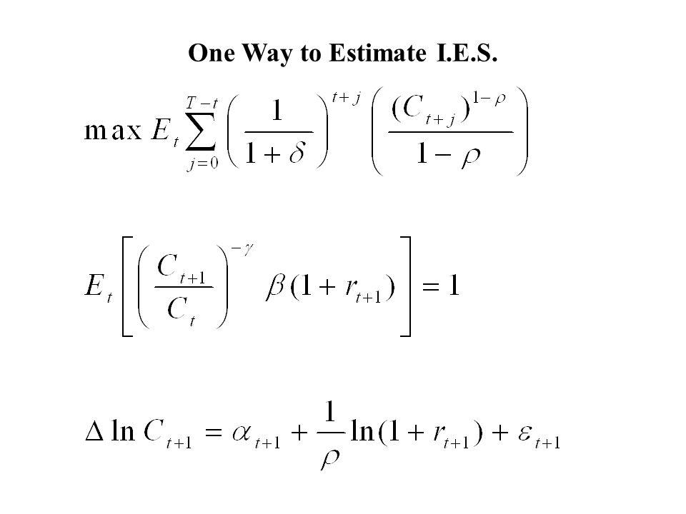One Way to Estimate I.E.S.
