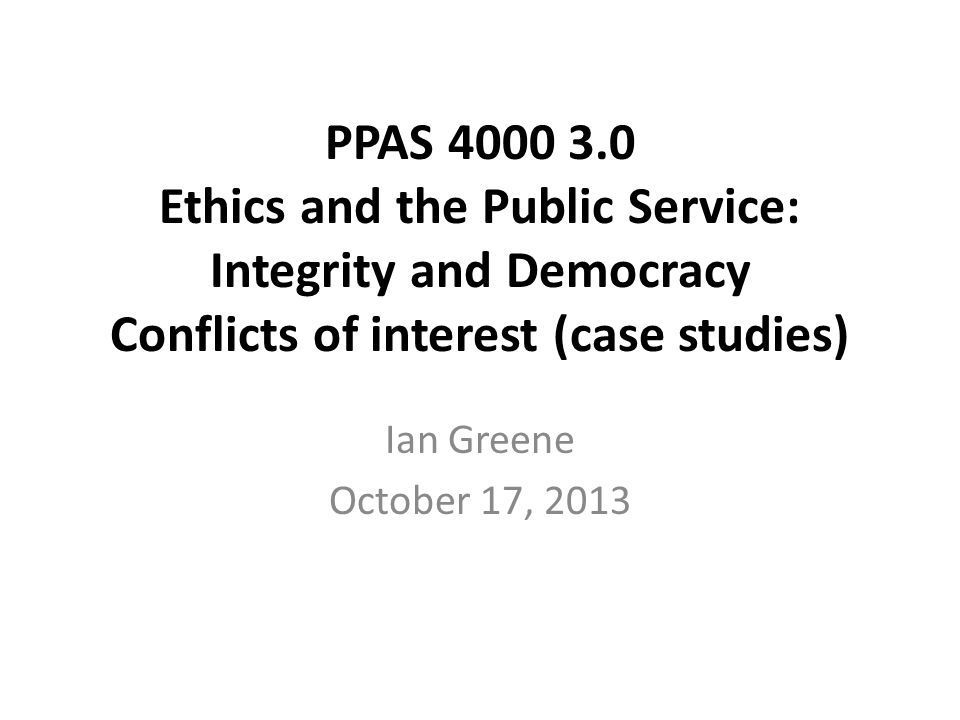 Preliminary Next week's class (Thursday, October 24) runs from 9:30 am to noon, and will be held at the Office of the Integrity Commissioner, 2 Bloor Street East, Suite 2101.