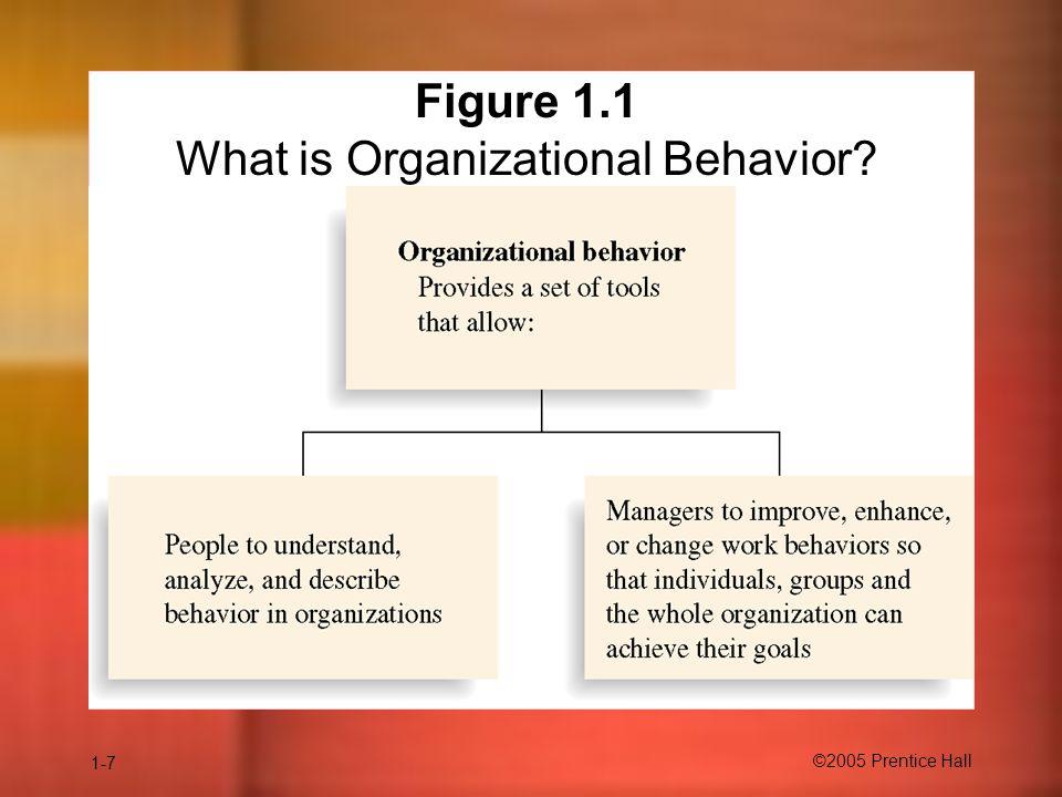 1-7 ©2005 Prentice Hall Insert Figure 1.1 here Figure 1.1 What is Organizational Behavior?