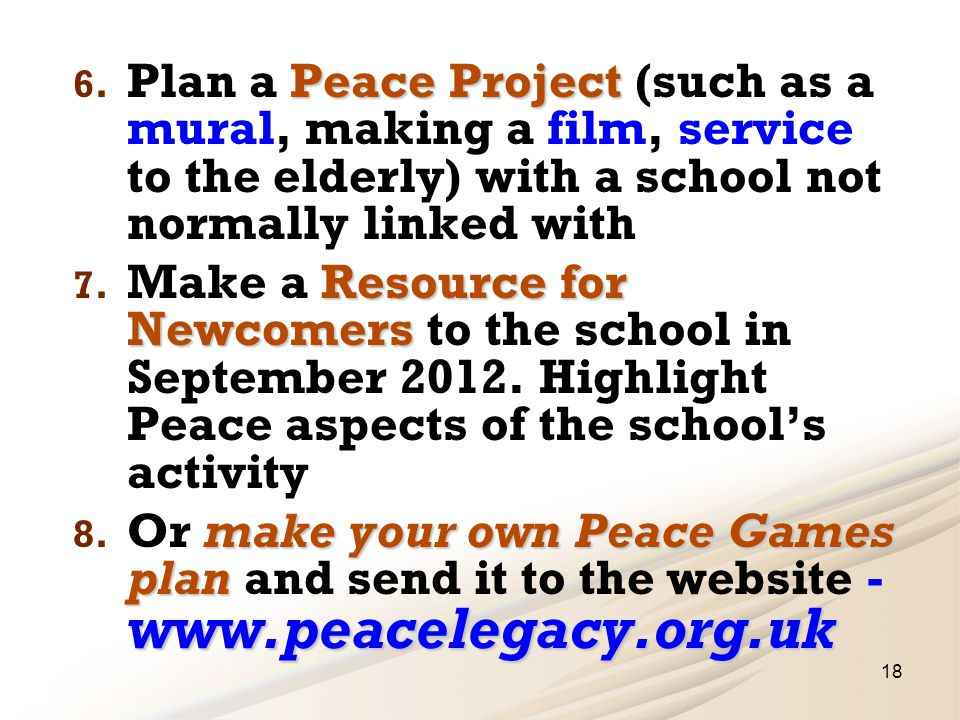 Peace Project 6.