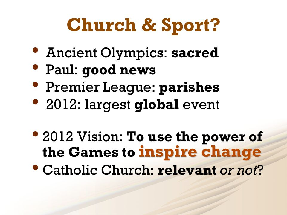 Church & Sport.