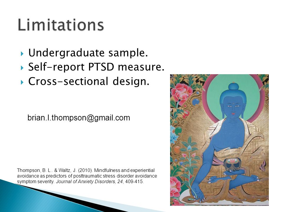  Undergraduate sample.  Self-report PTSD measure.