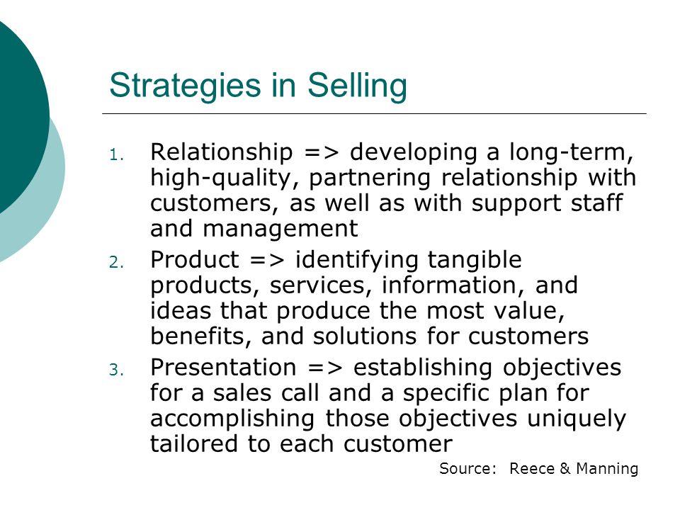 Strategies in Selling 1.