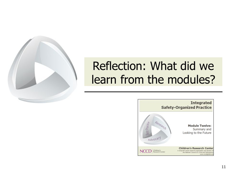 11 Reflection: What did we learn from the modules