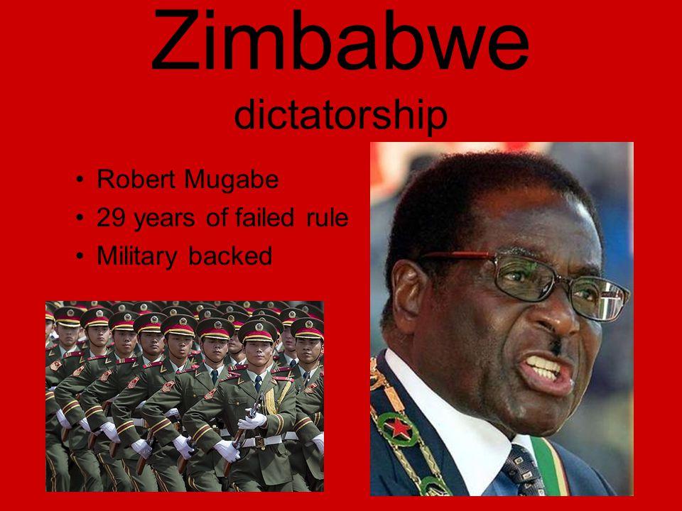 Zimbabwe dictatorship Robert Mugabe 29 years of failed rule Military backed