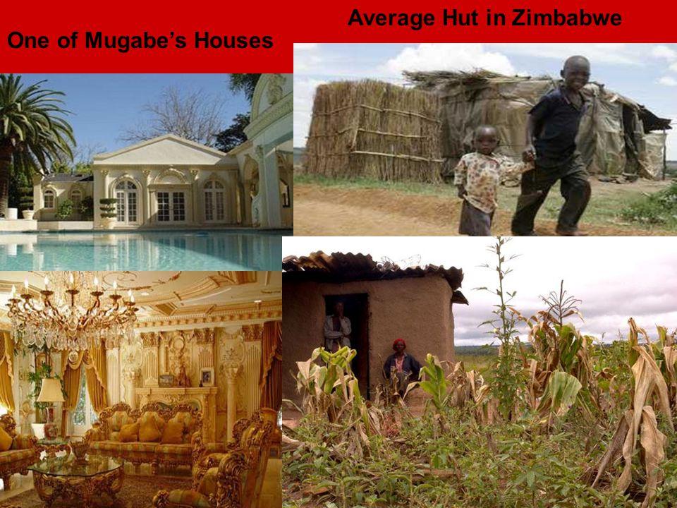 One of Mugabe's Houses Average Hut in Zimbabwe