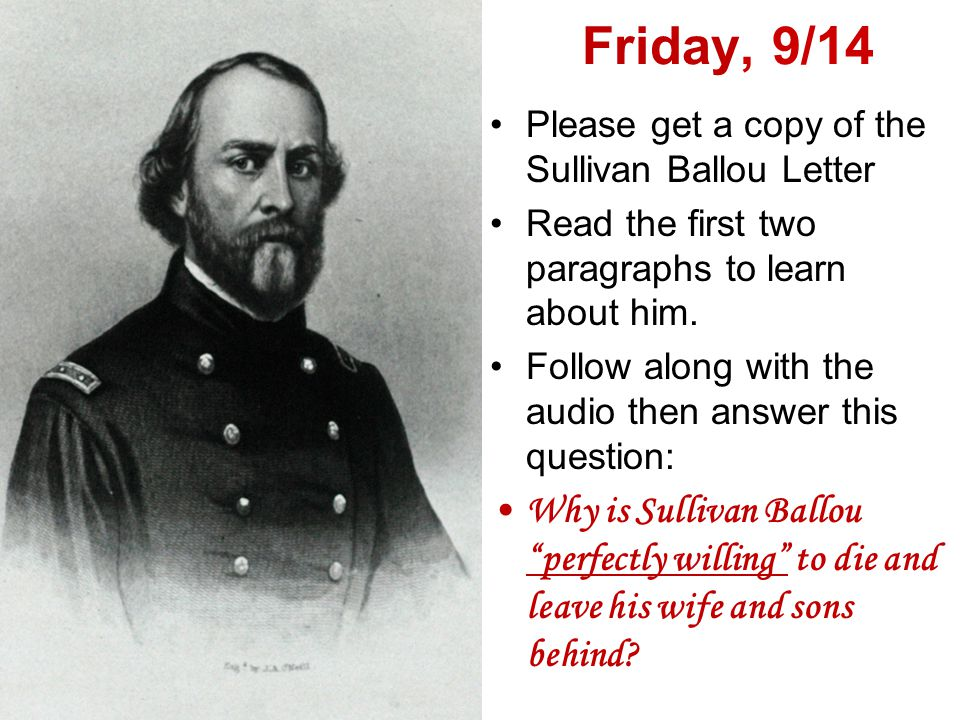 Closer – Fri., 9/14 2 nd /4 th periods only On your closer worksheet, please answer the following: How does America react to a civil war.
