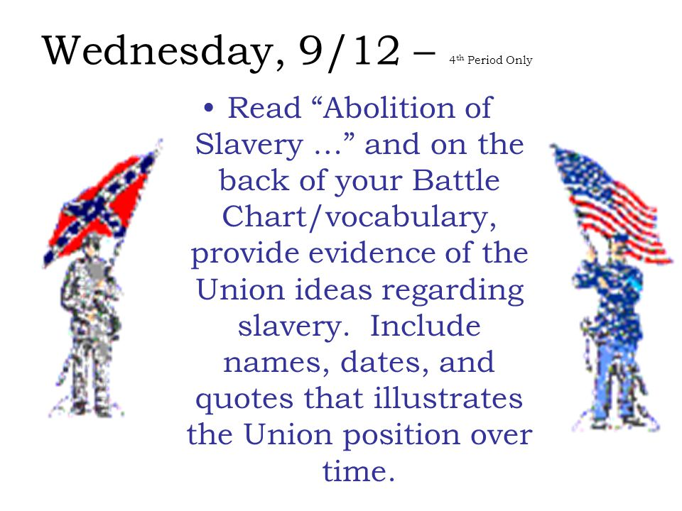 Friday, 9/07 Which of the events we discussed was most important in the issue over slavery?