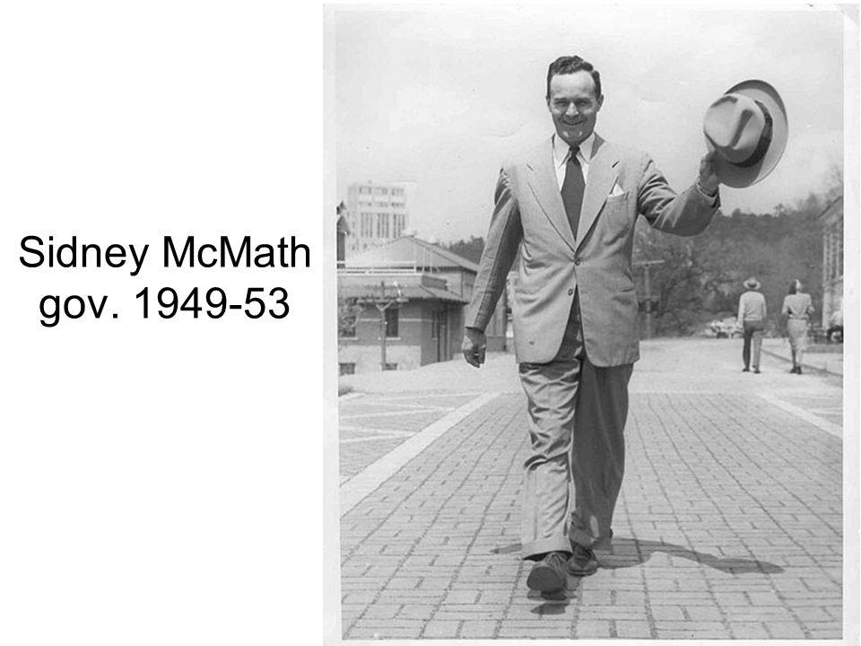 Sidney McMath gov. 1949-53