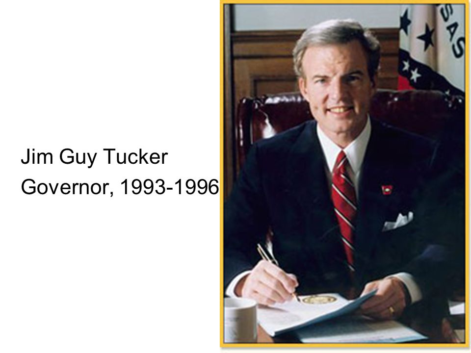 Jim Guy Tucker Governor, 1993-1996