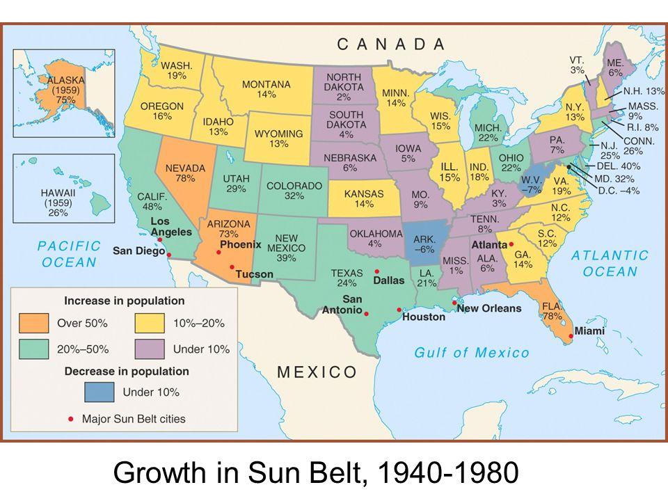 Growth in Sun Belt, 1940-1980