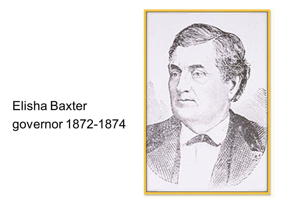 Elisha Baxter governor 1872-1874