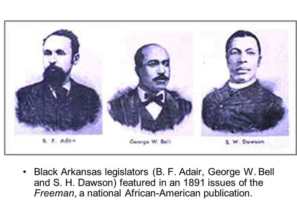 Black Arkansas legislators (B.F. Adair, George W.