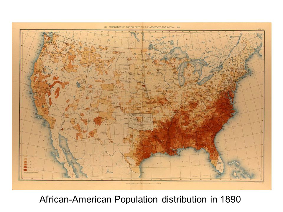 African-American Population distribution in 1890
