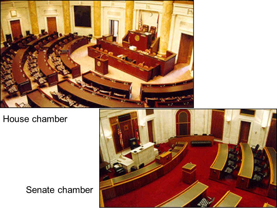 Senate chamber House chamber