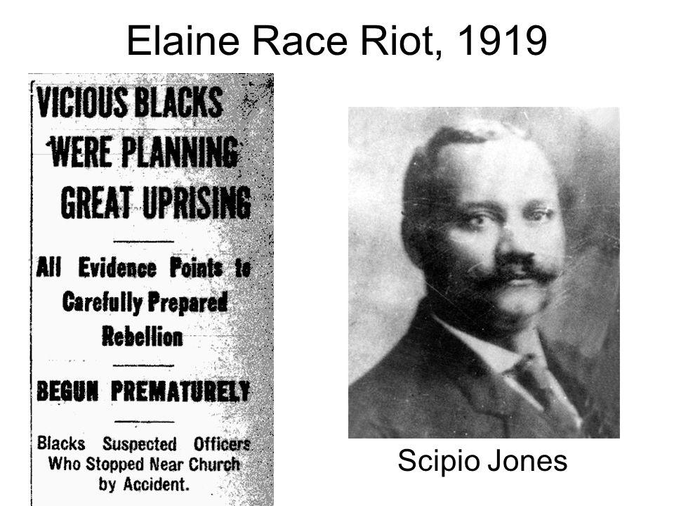 Elaine Race Riot, 1919 Scipio Jones